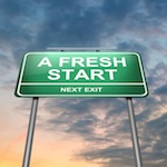 "road sign that says ""fresh start"""