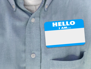 picture of name tag - donate article